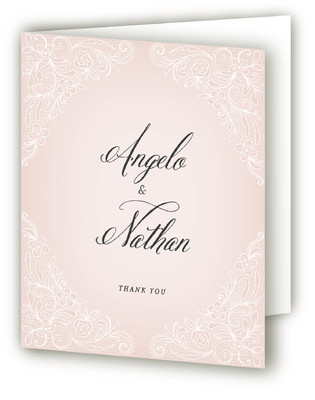 Elegant Lace Anniversary Party Thank You Cards