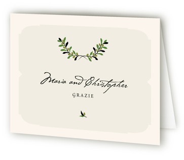 Italiano Anniversary Party Thank You Cards