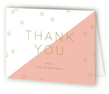 Modern Coneftti Anniversary Party Thank You Cards