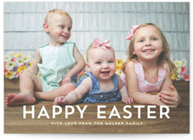 This is a white easter photo card by Hooray Creative called Modern Easter printing on recycled smooth signature in standard.