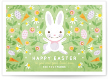 This is a green easter photo card by Kristen Smith called Easter Flowers printing on signature.