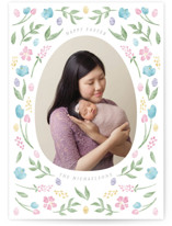 This is a pink easter photo card by Ink and Letter called Easter Eggs printing on smooth signature.