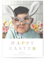This is a blue easter photo card by Blustery August called Colourful Easter printing on smooth signature.