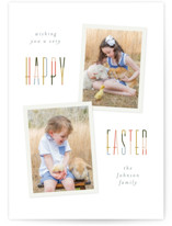This is a orange easter photo card by Pixel and Hank called Easter Duo printing on smooth signature.