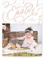 This is a pink easter photo card by Erin L. Wilson called Scripted printing on smooth signature.