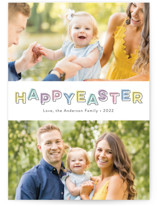 This is a blue easter photo card by ASQ Studio called Color Block printing on smooth signature.