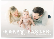 This is a white easter photo card by Kimberly FitzSimons called Bunny Ears printing on smooth signature.