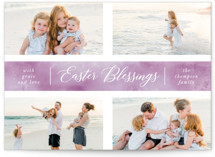 This is a purple easter photo card by Ashlee Townsend called Crossed printing on smooth signature.