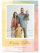 This is a yellow easter photo card by Shirley Lin Schneider called Sunrise printing on smooth signature.