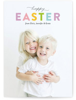 This is a purple easter photo card by Genna Blackburn called Easter Palette printing on smooth signature.