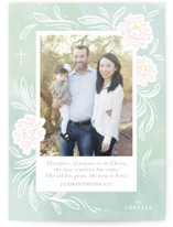 This is a green easter photo card by Paper Raven Co. called The New Is Here printing on smooth signature.
