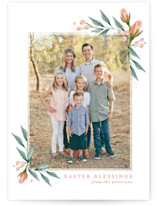 This is a pink easter photo card by Karidy Walker called Easter blooms printing on smooth signature.