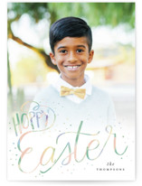 This is a green easter photo card by Ashlee Townsend called Hoppy Easter printing on signature.