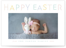 This is a yellow easter photo card by Creo Study called Festive Fun printing on smooth signature.