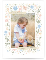 This is a brown easter photo card by Robert and Stella called Floral Easter Frame printing on smooth signature.