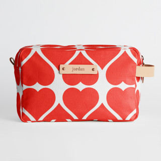 This is a red valentine bags and tote by kelli hall called Big Heart in standard.