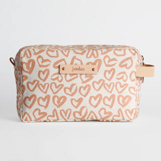 This is a pink valentine bags and tote by Ariel Rutland called Heart Flutter in standard.