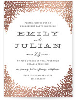 Gold Rush Foil-Pressed Engagement Party Invitations