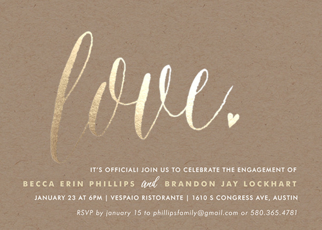 Engagement Party Invitations Minted
