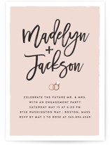 This is a pink engagement party invitation by Amy Payne called Simply Engaged with foil-pressed printing on signature in standard.
