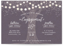 This is a purple engagement party invitation by Hooray Creative called Garden Lights with standard printing on signature in standard.