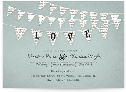 Love Story Engagement Party Invitations