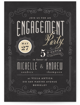 Truffle Engagement Party Invitations