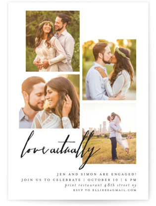 Engaged Actually Engagement Party Invitations