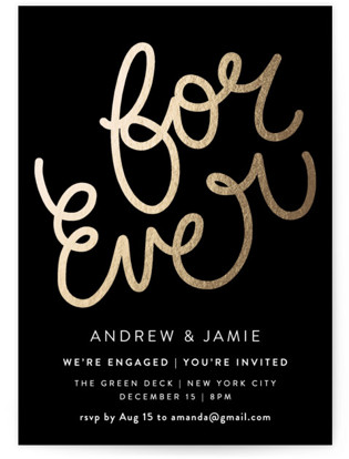 For Ever Engagement Party Invitations