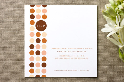 Circle Line Dance Engagement Party Invitations