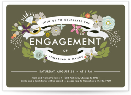 Banner Bling Engagement Party Invitations