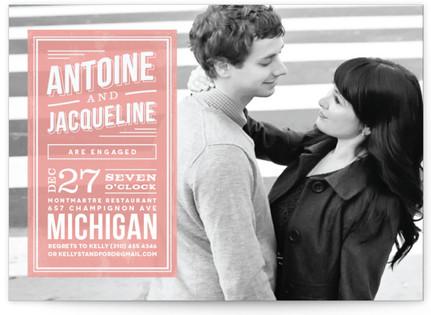 Romantic Superhero Engagement Party Invitations
