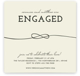 This is a yellow engagement party invitation by trbdesign called Tied Together with standard printing on signature in standard.