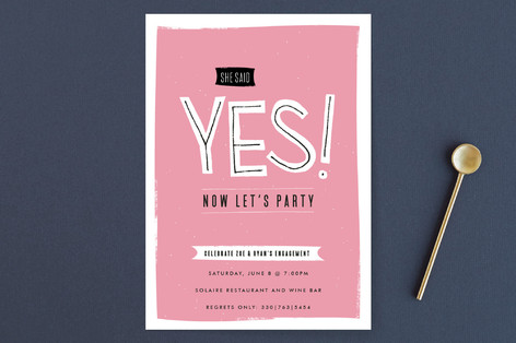 Now Let's Party Engagement Party Invitations