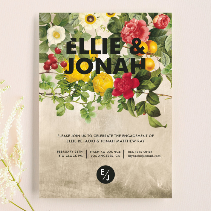 """Flora"" - Engagement Party Invitations in Natural by Susie Allen."