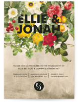 This is a brown engagement party invitation by Susie Allen called Flora with standard printing on signature in standard.