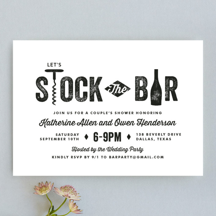 bar cart engagement party invitations by lauren chism | minted, Party invitations