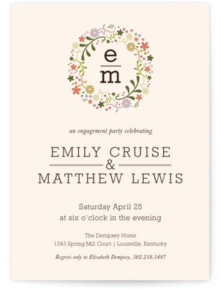 Grace in Bloom Engagement Party Invitations