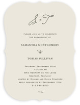 This is a beige engagement party invitation by Kim Dietrich Elam called Estate with standard printing on signature in standard.
