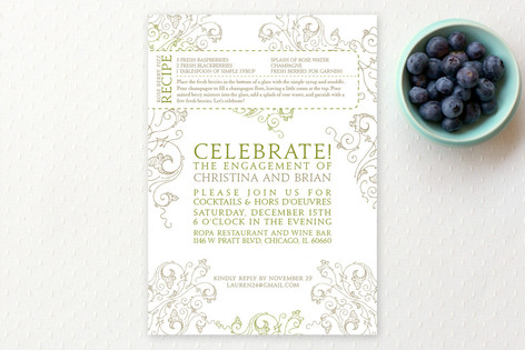 Recipe Engagement Party Invitations