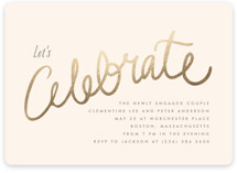 This is a beige engagement party invitation by chocomocacino called Charlemagne with standard printing on recycled in standard.