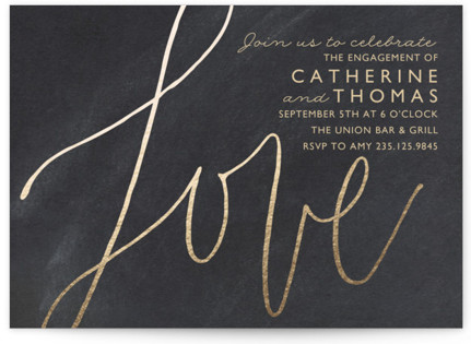 Love Letters Engagement Party Invitations