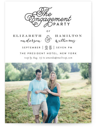 The Fancy Engagement Party Invitations
