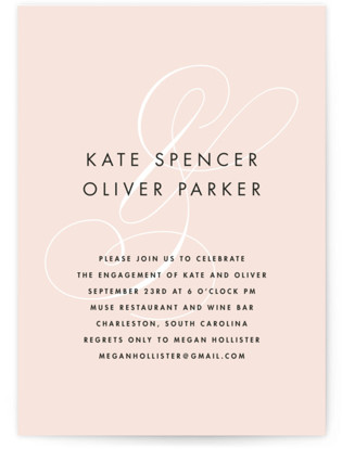 Chic Ampersand Engagement Party Invitations