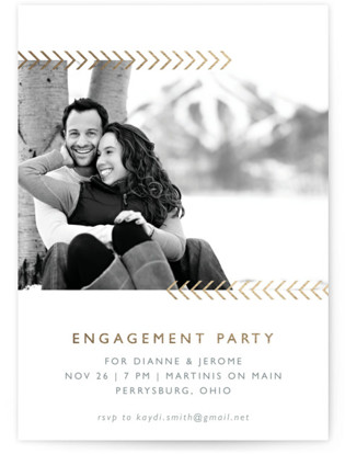 Arrows Engagement Party Invitations
