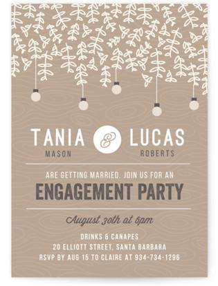 Botanica Engagement Party Invitations