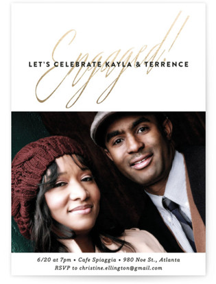 Glam Engagement Engagement Party Invitations