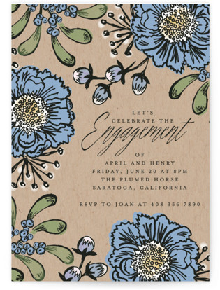 Engagement Elegance Engagement Party Invitations