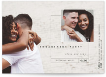 This is a black engagement party invitation by Eric Clegg called Downtown with standard printing on signature in standard.