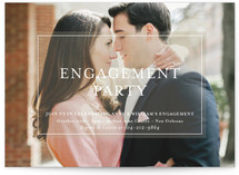 This is a brown engagement party invitation by Julie Hebert called Charming Classic with standard printing on signature in standard.